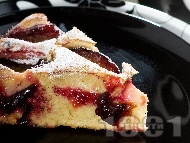 Плодов кейк / сладкиш / кекс с боровинки, малини, кисело мляко и сода